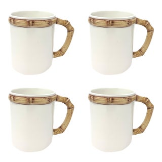 Bamboo Mug in Natural, Set of 4 For Sale