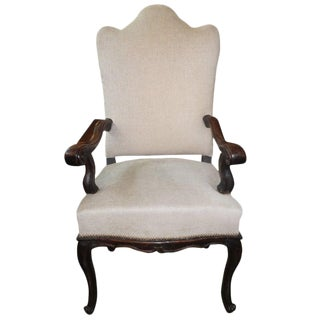 18th Century Vintage Italian Louis XV Walnut Chair For Sale