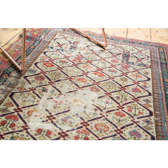 "Antique Fragmented Caucasian Prayer Square Rug - 2'10"" x 3'11"" For Sale - Image 4 of 10"