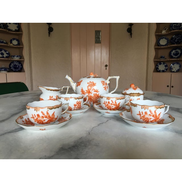 Herend Fortuna Pattern Tea Set - Set of 7 - Image 4 of 11