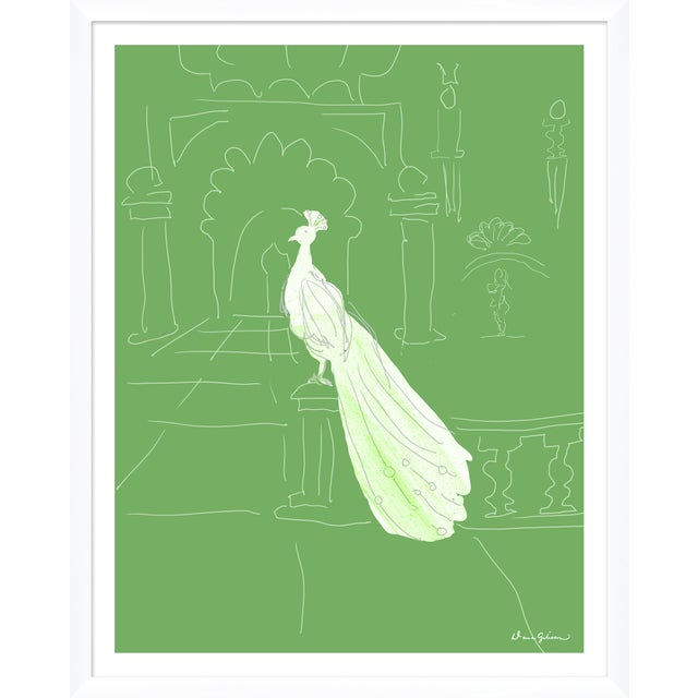 """Contemporary """"Delhi in Green"""" By Dana Gibson, Framed Art Print For Sale - Image 3 of 3"""