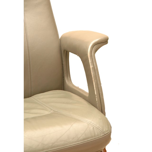 Modern Leather German Chairs - A Pair - Image 3 of 6