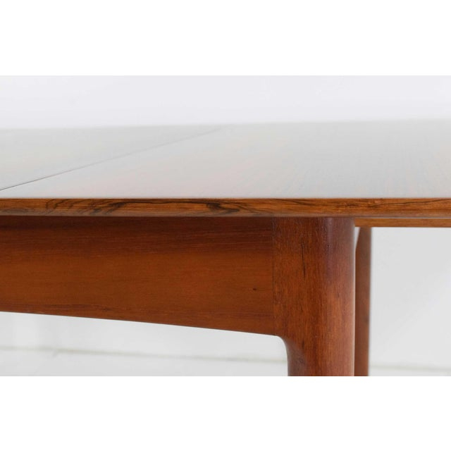 Rosewood Rosewood and Teak Dining Table by Worts Mobler For Sale - Image 7 of 11