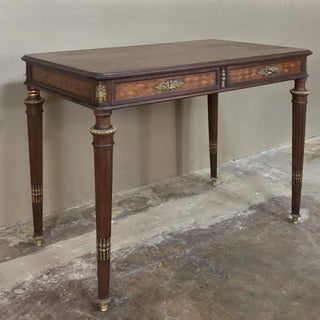 19th Century Louis XVI Bronze Mounted Mahogany Writing Table by Schmit of Paris Preview
