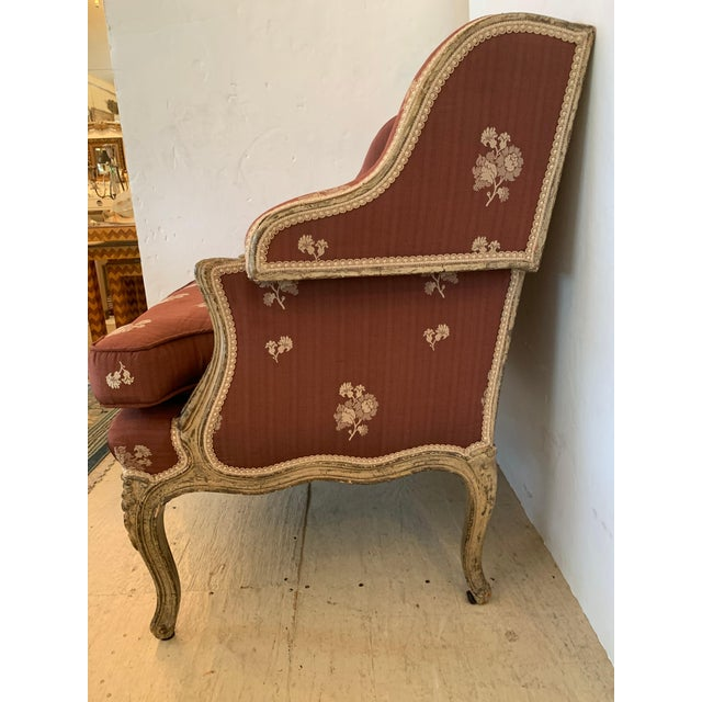 French Gorgeous French Louis XV Club Chair Dressed Up in Rose Tarlow Fabric For Sale - Image 3 of 11