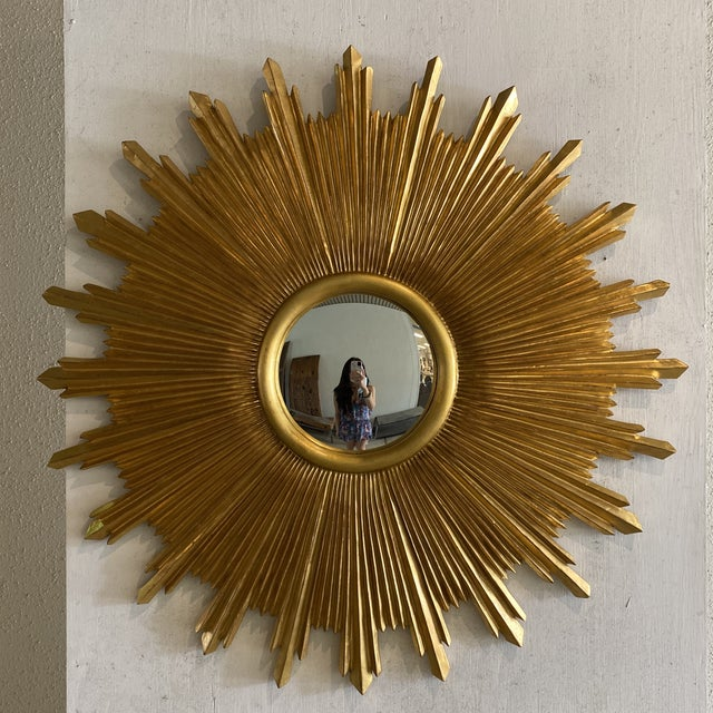 Carvers Guild Starburst Wall Mirror For Sale - Image 9 of 9