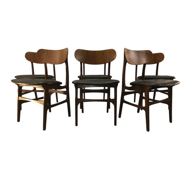 Danish Teak Round Back Dining Chairs - Set of 6 For Sale