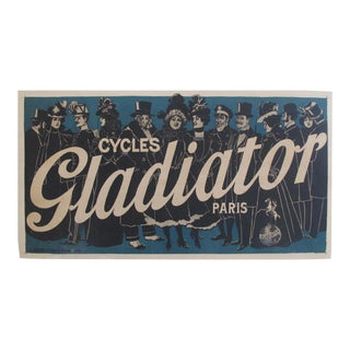1895 French Vintage Bicycle Poster, Cycles Gladiator