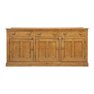 Antique English Pine Buffet Sideboard, Circa 1900 For Sale