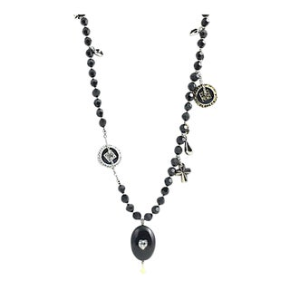 Swarovski Black Magic Locket Necklace For Sale