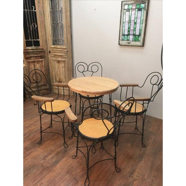 Vintage Cafe Dining Set - Image 2 of 6