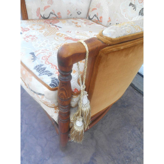 Orange Vintage Heywood Wakefield Era Club / Fireside Arm Chair For Sale - Image 8 of 10