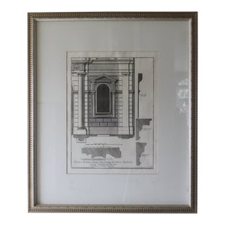 Early 19th Century Antique Architectural Finestra Del Piano Ferreno Print For Sale