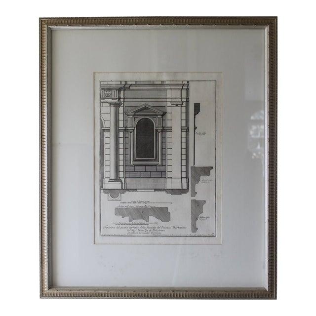 Early 19th Century Antique Architectural Finestra Del Piano Ferreno Print For Sale