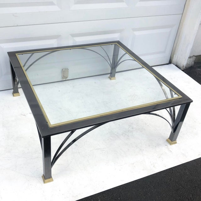 Vintage Modern Chrome and Glass Coffee Table For Sale - Image 9 of 9