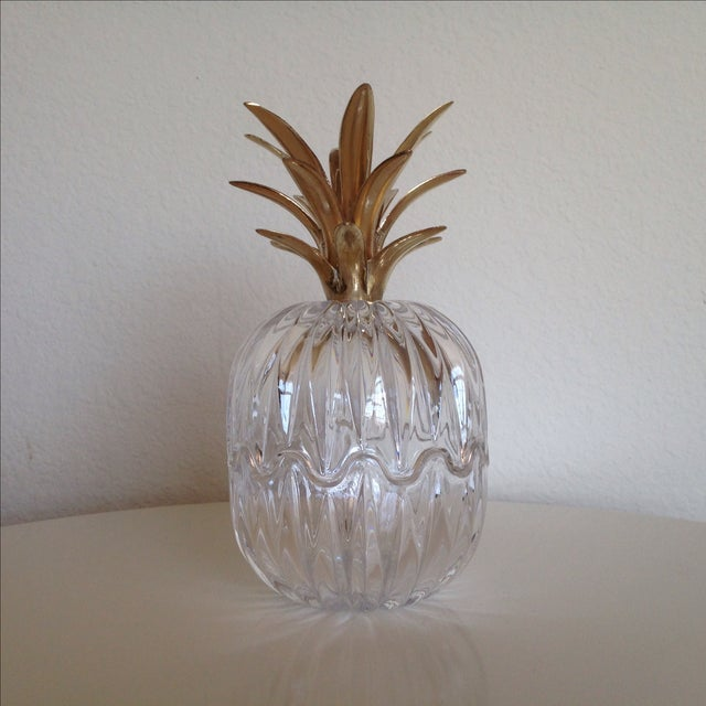 Vintage Glass and Brass Pineapple - Image 2 of 6