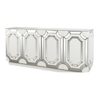 Contemporary Silver Zoe Mirrored Sideboard For Sale