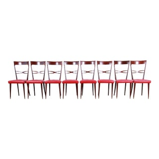 Mid-Century Modern Italian Dining Chairs - Set of 8 For Sale