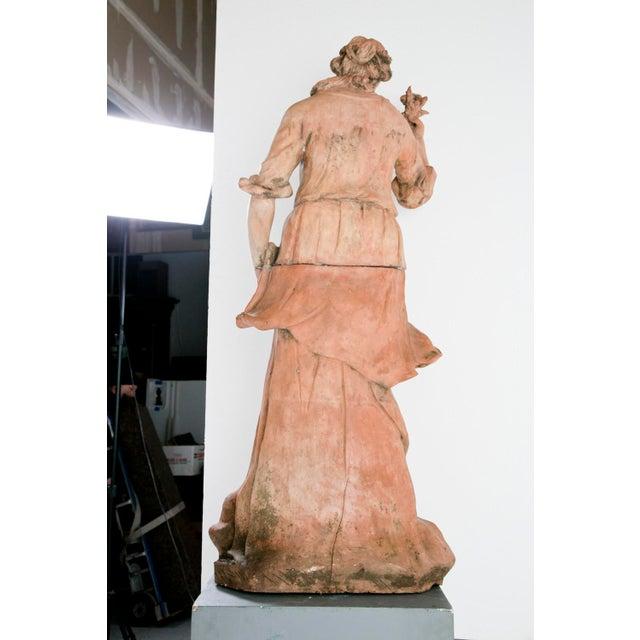 Large Italian Terra Cotta Statue Of Goddess Flora For Sale - Image 4 of 5