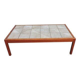 Danish Mid Century Modern Tiled Coffee Table by Gangsø For Sale