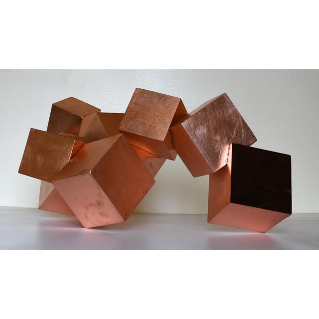 Copper and Mahogany Pyrite Sculpture For Sale - Image 13 of 13
