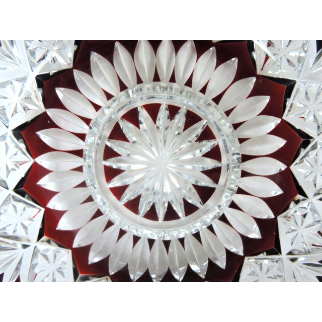 Crystal Antique English Cut Glass Serving Set, Platter and Six Bowls/Dishes For Sale - Image 7 of 7