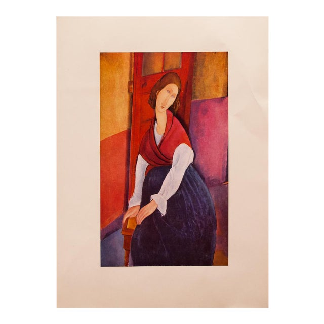 1958 A. Modigliani, First Edition Lithograph After Portrait of Jeanne Hébuterne For Sale