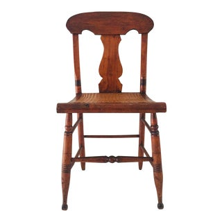 Antique Cane Seat Side Chair