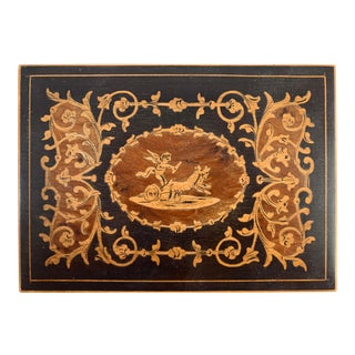 19th Century French Inlay Wooden Box For Sale