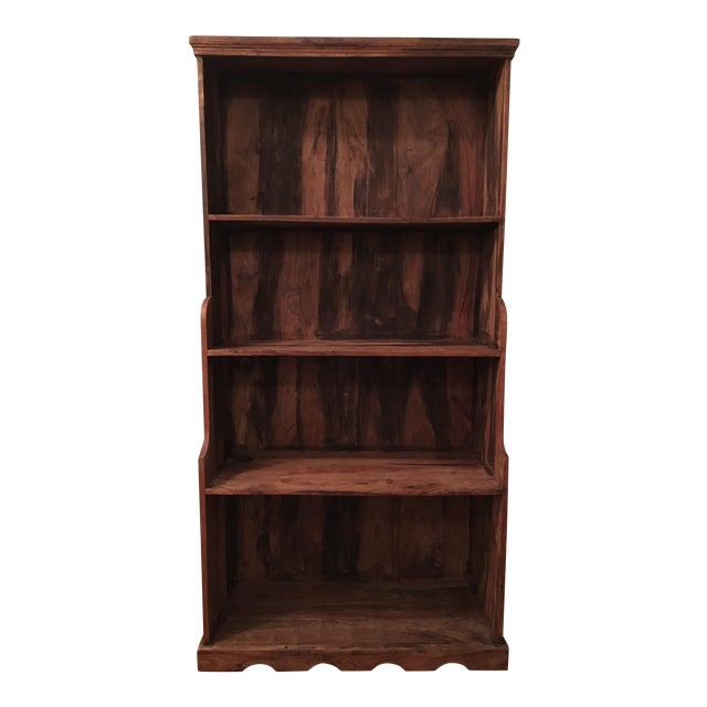 Antique Rustic Solid Wood Bookcase - Image 1 of 6
