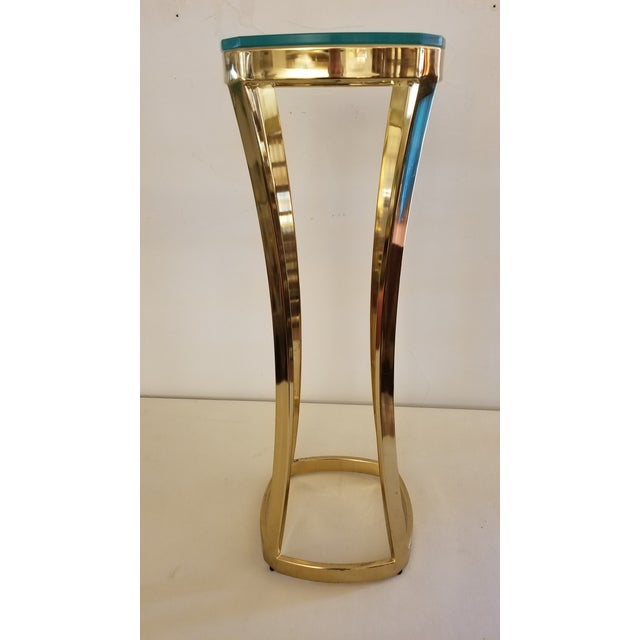 1970s Solid Brass Art Pedestal For Sale In San Antonio - Image 6 of 9
