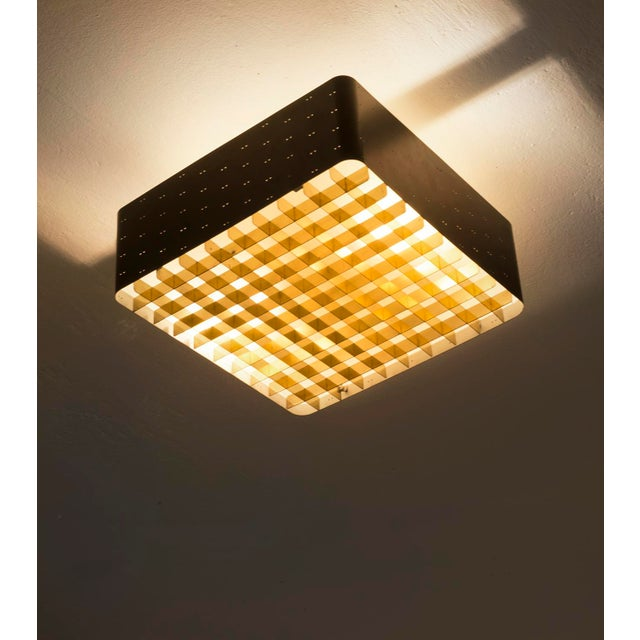 1960s Paavo Tynell Model # 9068 Ceiling Lamp in Black, Finland, 1960s For Sale - Image 5 of 11