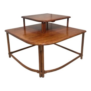 Mid Century Heywood-Wakefield Two Tiered Accent Table For Sale