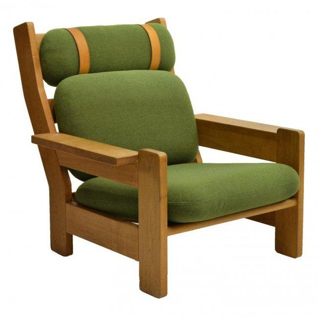 Danish Modern Beechwood Living Room 4-piece Set with Leather Straps, Circa 1970 - Image 7 of 8