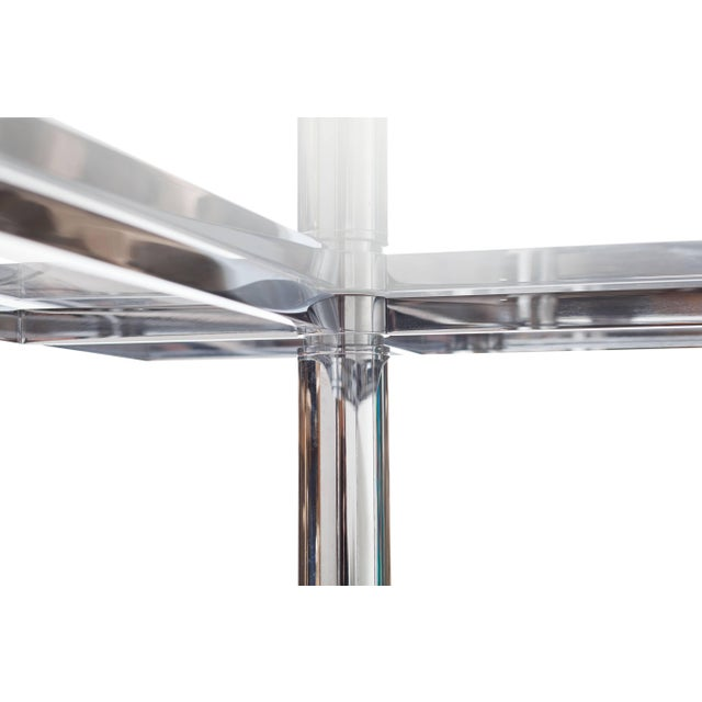 Afra & Tobia Scarpa Tobia Scarpa Large Square Chrome Dining Table for Knoll Model André For Sale - Image 4 of 8