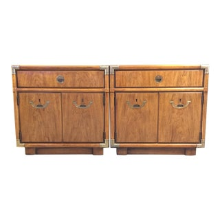 Drexel Accolade II Campaign Nightstands - A Pair