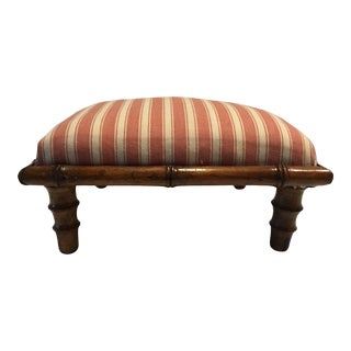 1900s Antique Victorian Bamboo Footstool For Sale