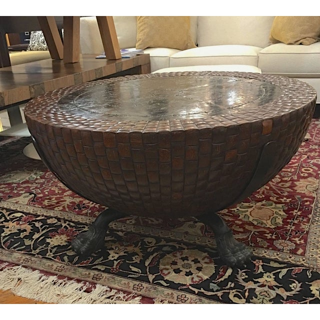Design Plus Consignment Gallery has a Nairobi Drum Table from Kreiss Furniture. This drum table by Kreiss Collections is...