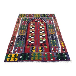"Turkish Kilim Rug - 3'4"" X 4'5"" For Sale"