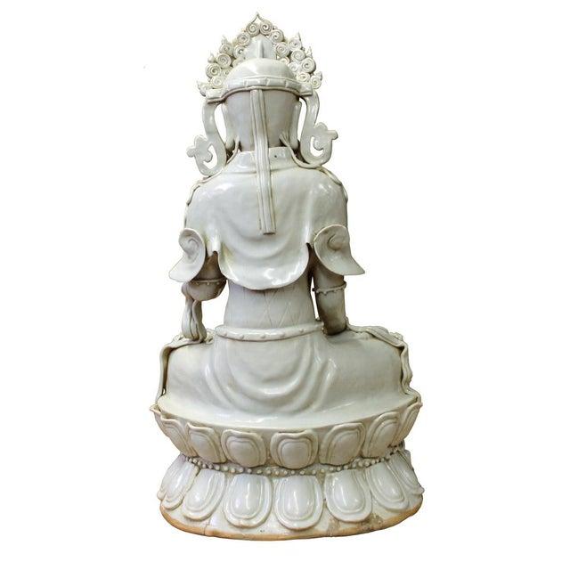 Tong Style Porcelain Kwan Yin Tara Bodhisattva Statue - Image 5 of 7