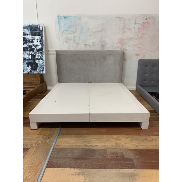 Donghia Eastern King Donghia Ginger Fabric Upholstered Platform Bed For Sale - Image 4 of 11