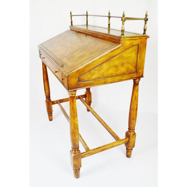 Animal Skin Vintage Thomasville Ernest Hemingway Desk & Chair Set For Sale - Image 7 of 10