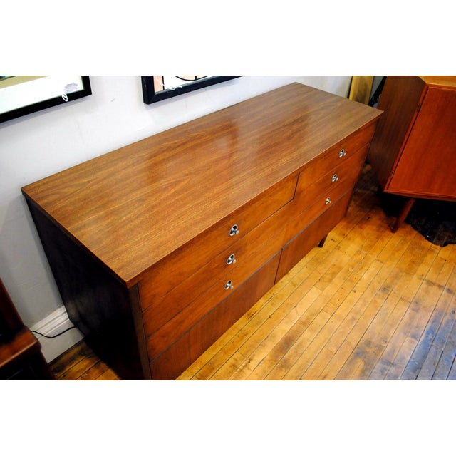Brown Mid Century Walnut Low Dresser by Basset 1960's For Sale - Image 8 of 10
