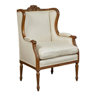 19th Century French Wing Back Chair For Sale