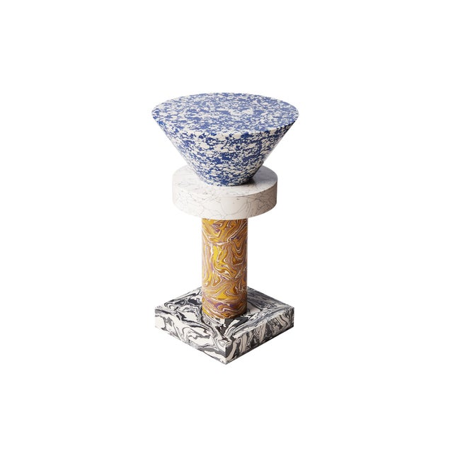 Blue Tom Dixon Swirl Table Cone For Sale - Image 8 of 8