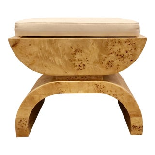 Asian Modern Worlds Away Biggs Tan Wooden Bench