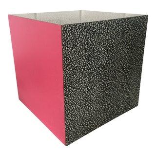 1980s Memphis Ettore Sottsass for Anthologie Quartetto Cube Table For Sale