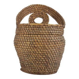 Vintage Woven Basket For Sale