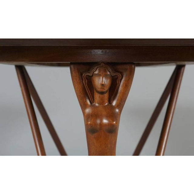 Swell Danish 1930S 40S Stylized Female End Supports Side Table Download Free Architecture Designs Lukepmadebymaigaardcom