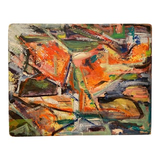 Mid 20th Century Abstract Expressionist Oil Painting For Sale